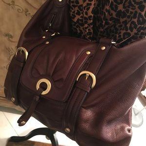 B Makowsky large brown LEATHER BAG
